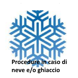 Procedura in caso di neve e/o ghiaccio
